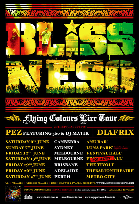 Bliss n Eso Tour Poster