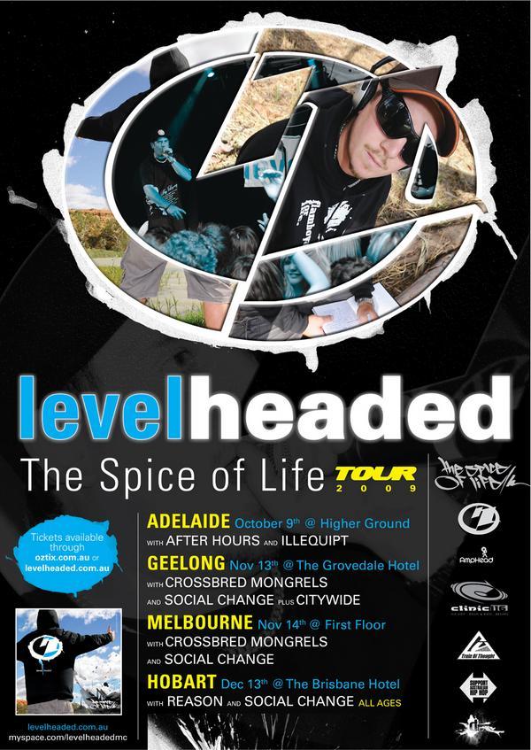 levelheaded tour all aussie hip hop