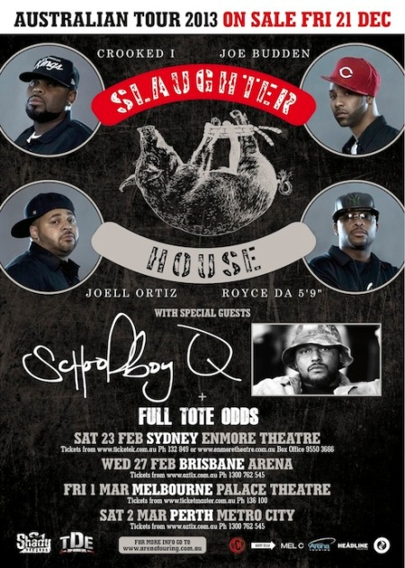 SlaughterHouse Australian Tour 2013