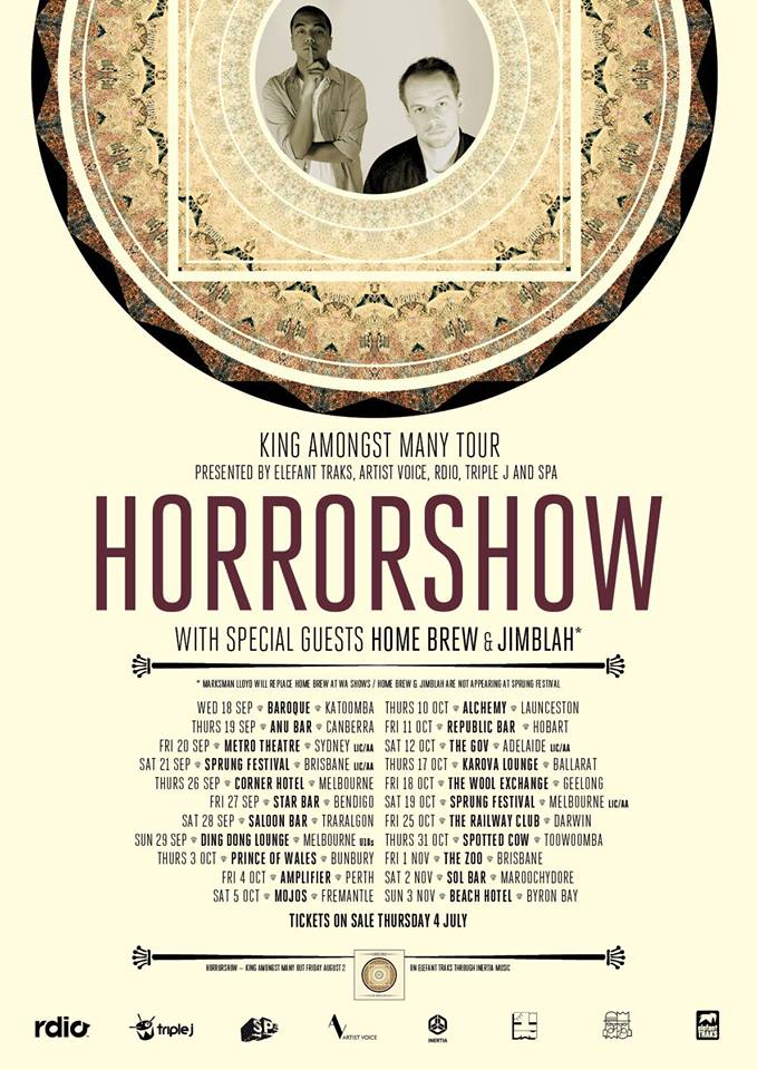 horrorshow king amongst many tour