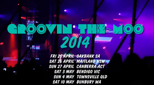 Groovin' The Moo Announces 2014 Tour Dates & Welcomes Oakbank, SA To