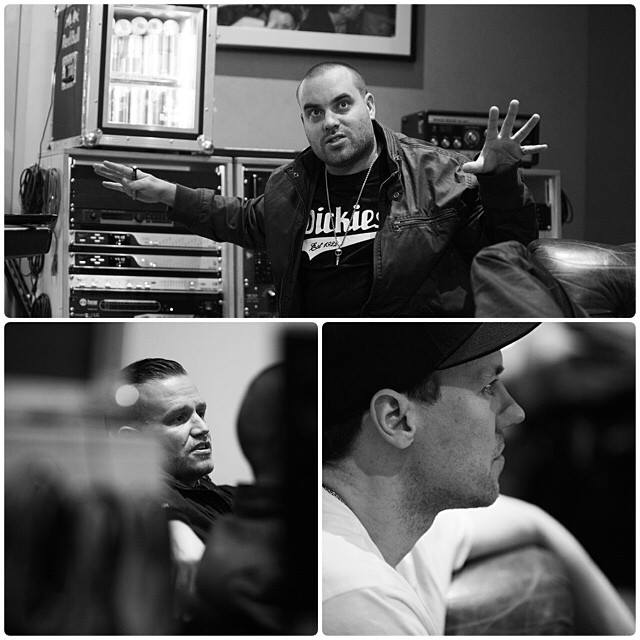 Hilltop Hoods working on the new album in London