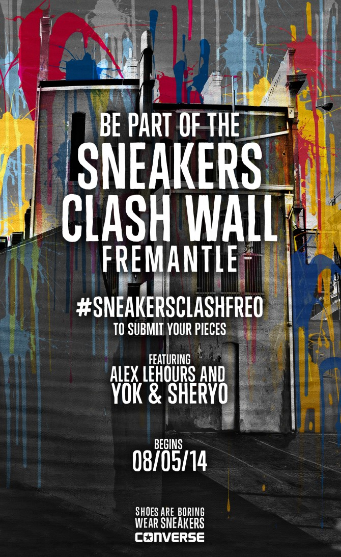 72a3bc80342729 Be Part Of The Converse Sneakers Clash Wall Fremantle – aahh