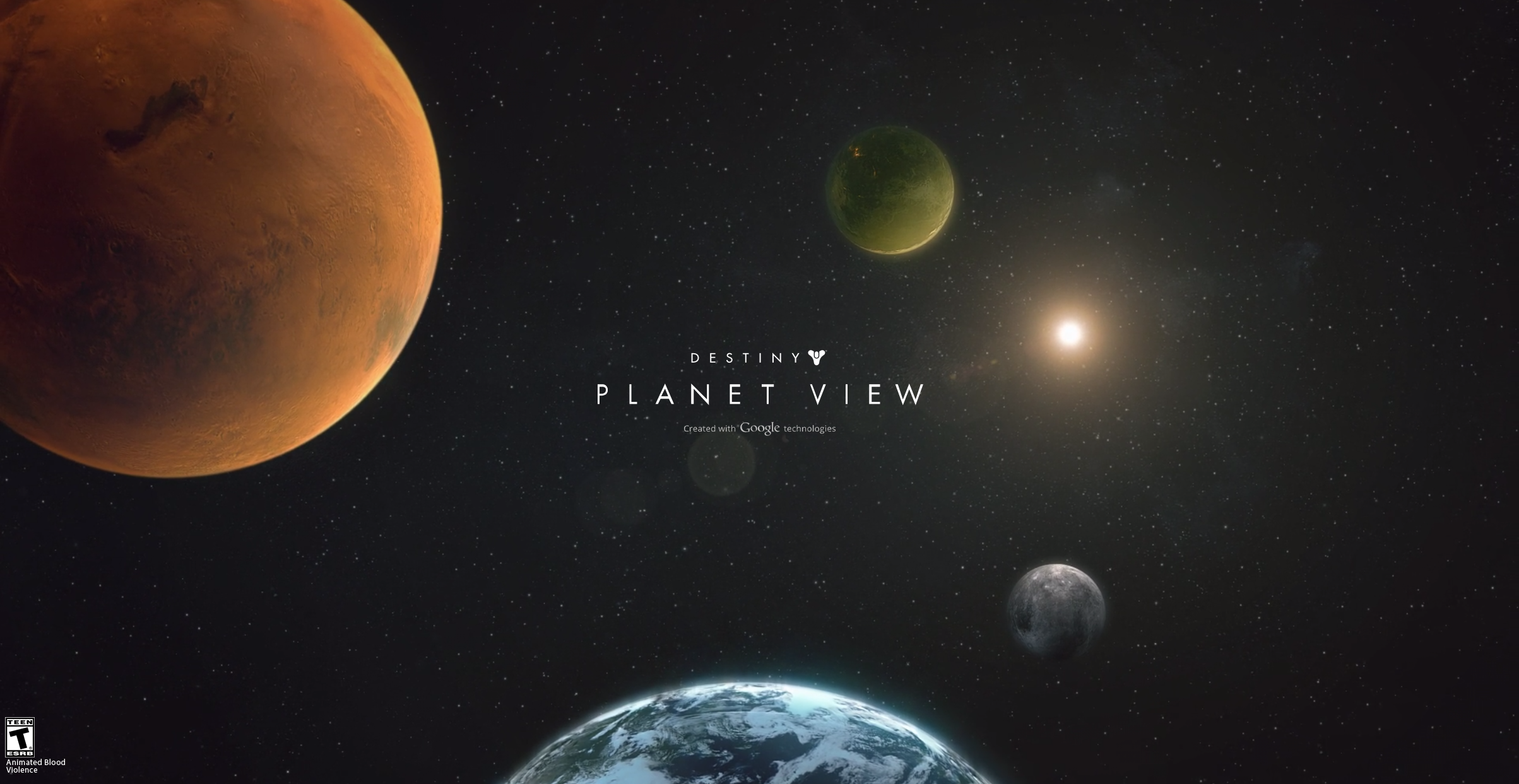 Destiny Planet View Powered By Google Technologies | aahh