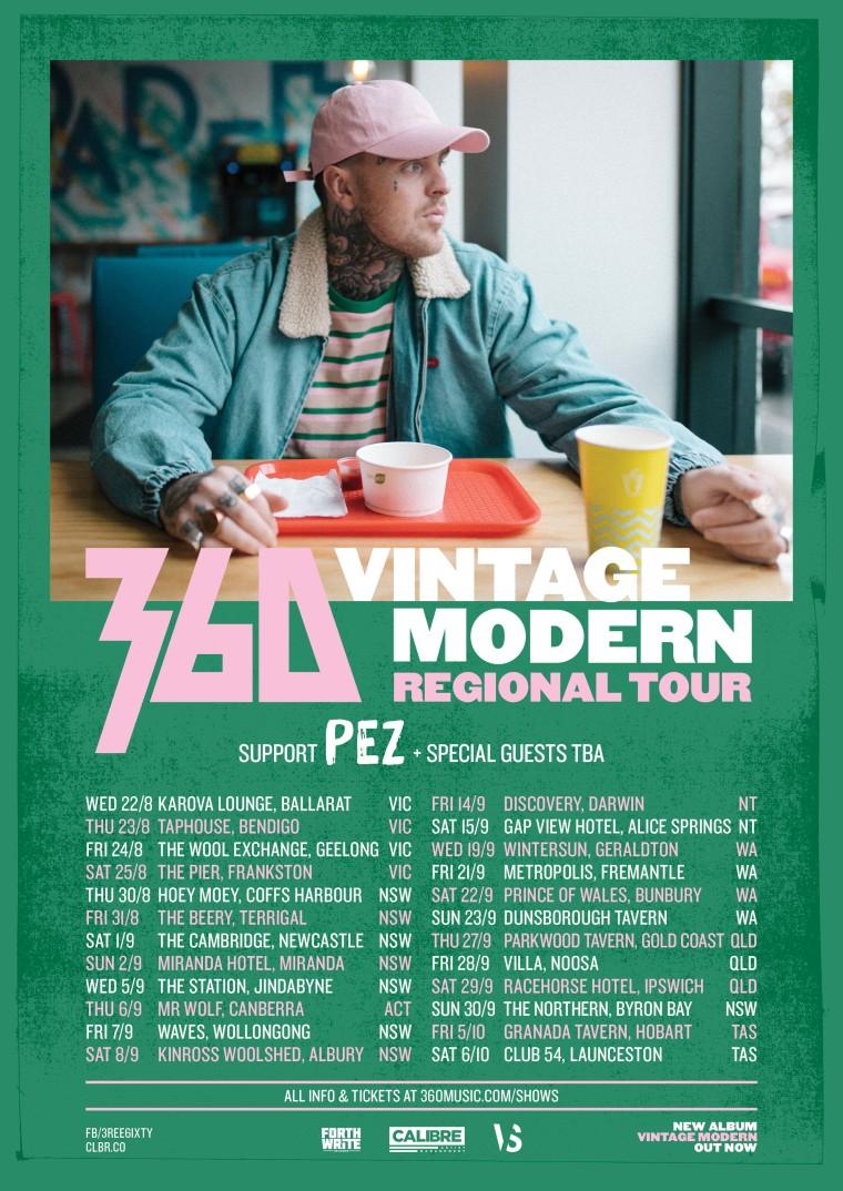 360 Vintage Modern Regional Tour Poster